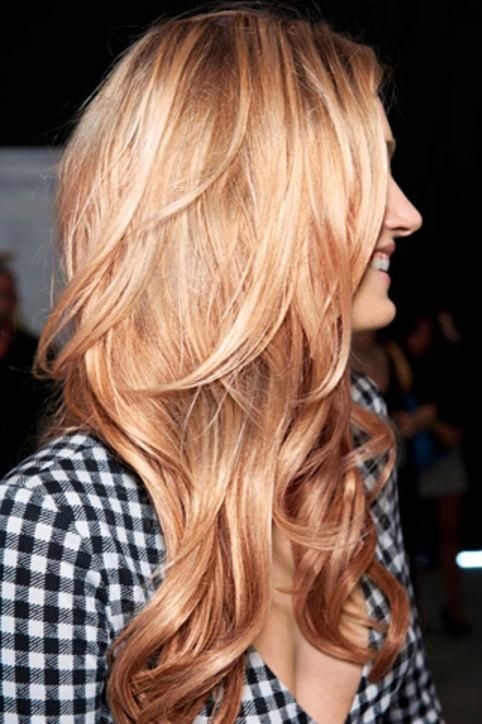 Make blond highlights pop with shaggy layers