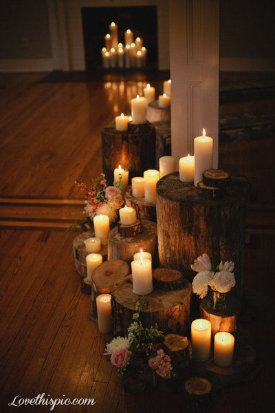 Rustic candles photography flowers romantic country wood