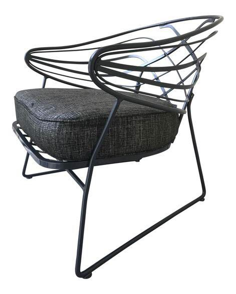 Mid-Century Wrought Iron Lounge Chair on Chairish.com