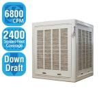 6,800 CFM Down-Draft Aspen Roof/Side Evaporative Cooler for 20 in. Ducts 2,400 sq. ft. (Motor Not Included), White