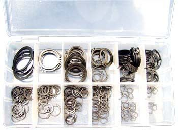 "300 Piece Snap Ring Assortment - ATD-354 300-Piece Snap Ring AssortmentContains: (5 ) 1/4"" (10 ) 1"" (20 ) 7/8"" (10 ) 3/16"" (35 ) 3/4"" (30 ) 5/8"" (20 ) 9/16"" (20 ) 1/2"" (50 ) 7/16"" (50 ) 3/8"" (20 ) 5/16"" (30 ) 1/4"" Molded storage case included. Automotive > Shop Equipment. Weight: 1.00"