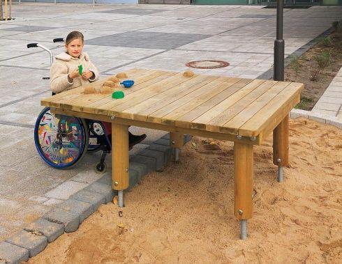 eibe acqua Sand Play Table, Wheelchair Accessible