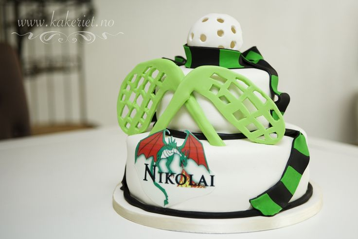 Bandy cake ball scarf Innebandy kake