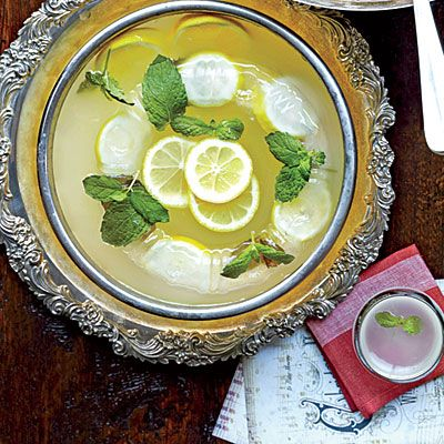 Lemon-Gin Fizzy Punch | We prefer a more botanical-tasting gin like Bristow in this punch.