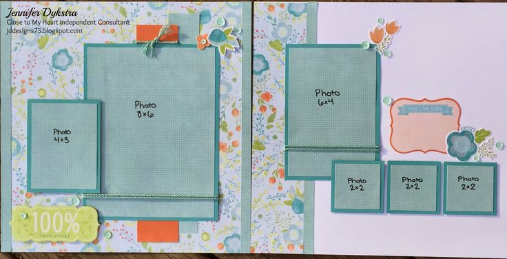 jd designs - CTMH Blossom layout