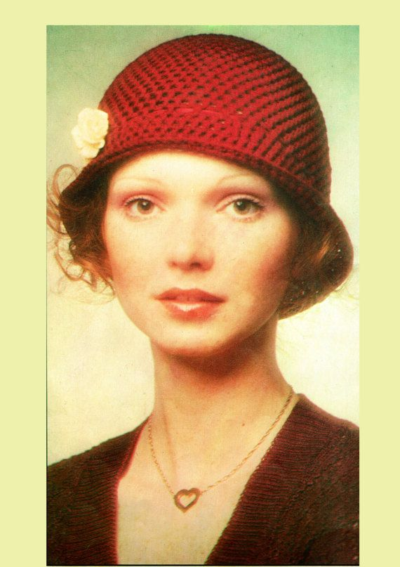 PDF Vintage 1970s Ladies Cloche Hat Crochet by TheAtticofKitsch