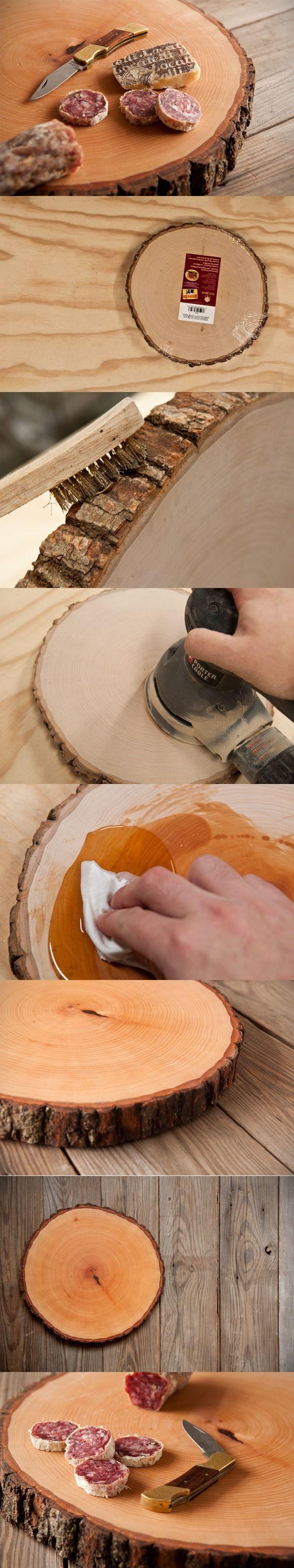 Atractiva tabla de madera para servir