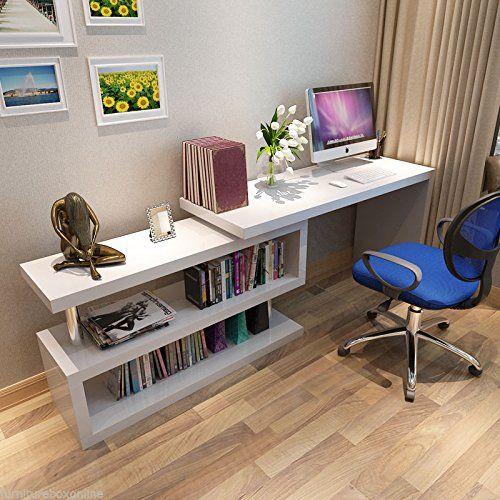 New SIENA White High Gloss Computer PC Home Executive