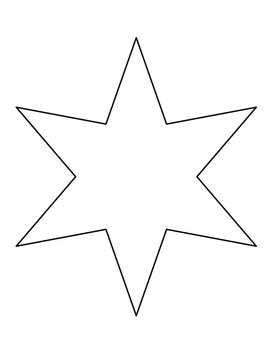 Six-pointed Star pattern. Use the printable outline for crafts, creating stencils, scrapbooking, and more. Free PDF template to download and print at http://patternuniverse.com/download/six-pointed-star-pattern/
