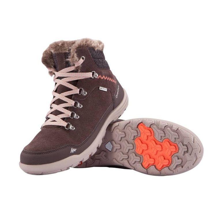 Deportes de Montaña Calzado - BOTAS ARP500 WARM WTP M Marrón QUECHUA - Mujer