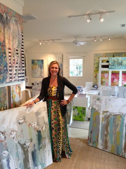 Artist #Deann Hebert in the gallery with #Gregg Irby Fine Art.