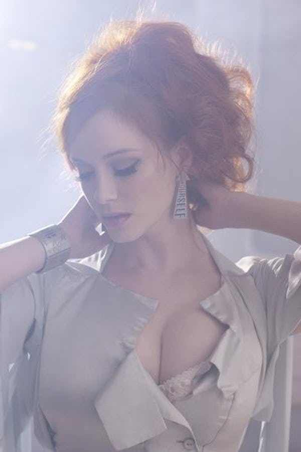 Christina Hendricks may be the most famous red head on the planet right now. For Christina Hendricks, hot doesn't begin to describe the smokin' celeb's gorgeous looks, excellent acting chops and ample umm... let's just leave it at her talent. All the sexy Christina Hendricks pictures the inte...