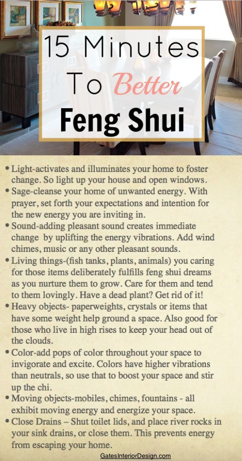 15 Minutes To Better Feng Shui