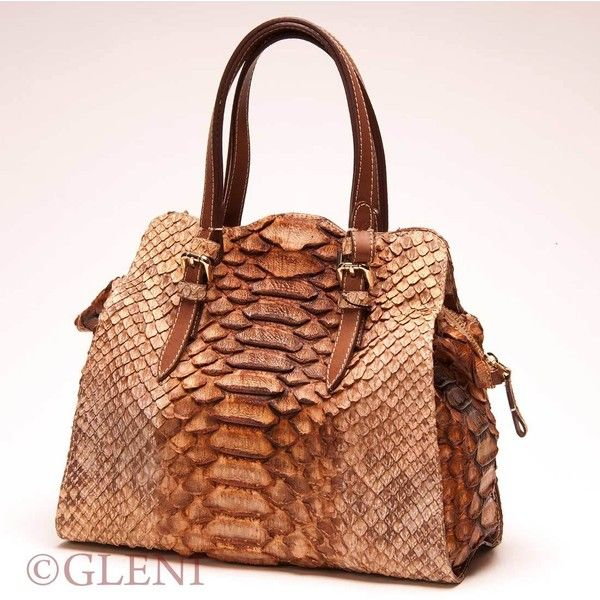 Delicious python tote in caramel tonalities (€1.653) ❤ liked on Polyvore featuring bags, handbags, tote bags, snake skin purse, snakeskin purse, snakeskin handbags, handbags totes and tote handbags
