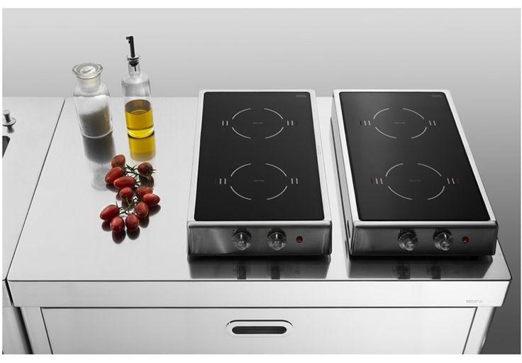PIANI COTTURA RIBALTABILI A INDUZIONE Table de cuisson en acier inoxydable by ALPES-INOX