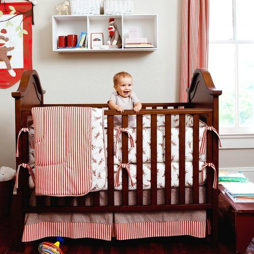 Sock Monkey Crib Bedding Set | Sock Monkey Baby Bedding Collection | Carousel Designs