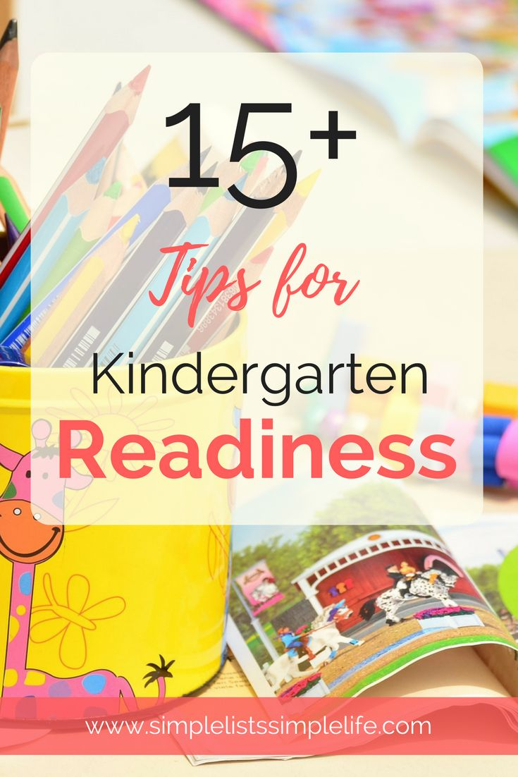 15+ tips for kindergarten readiness. Everything a child needs to know before kindergarten. Plus ideas to learn each skill!