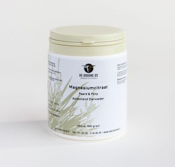 Magnesiumcitraat - De Groene Os  Poeder met de natuurlijke ontspanner magnesium.