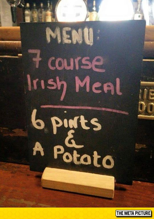 Typical Irish Meal