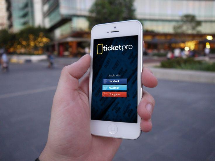 Ticket Pro - Design Concept, Mobile App, Mobile UX, Mobile UI, Log in screen