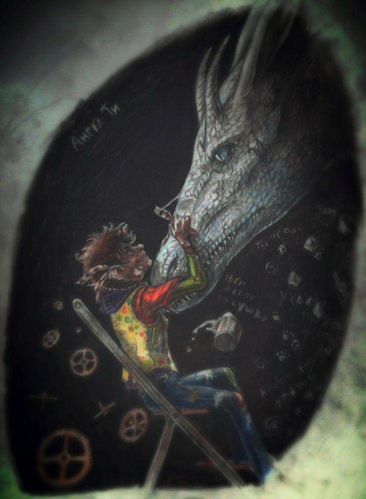 """""""Я исполнил свой сон. Вот оно-драконье привидение в лилиях с Лордовским глазом.Бежит,когтями вперёд,в сторону нашей спальни. Это к возвращению."""" by Ангел Ти"""