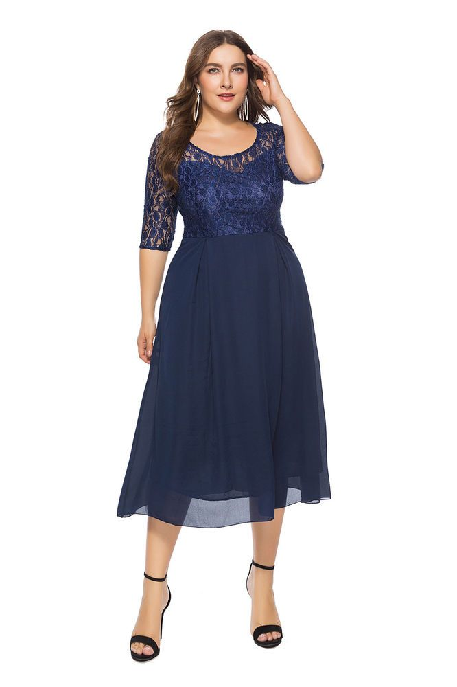 43202d1f54 Elegant Big Girl Plus Size Woman Formal Casual Evening Party ...