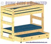 Bunk Bed Plan Stackable Twin with Trundle Bed