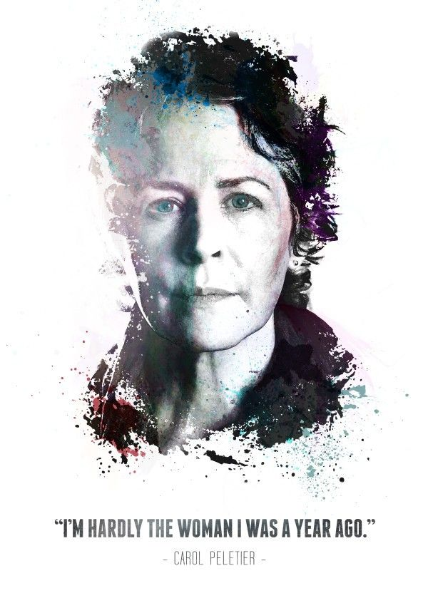 "The Walking Dead Character Quotes Carol Peletier #Displate artwork by artist ""Swav Cembrzynski"". Part of a 21-piece set featuring artwork based on characters from the popular The Walking Dead TV series. £40 / $54 per poster (Regular size) #TheWalkingDead #TWD #Walker #Walkers #Zombie #Zombies #AbrahamFord #BethGreene #CarlGrimes #CarolPeletier #DarylDixon #EugenePorter #GlennRhee #Lucille #MaggieGreene #Michonne #Negan #RickGrimes"