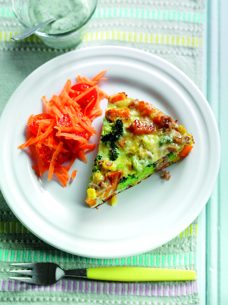 Sweet potato, tuna & sweetcorn tortilla | Egg Recipes