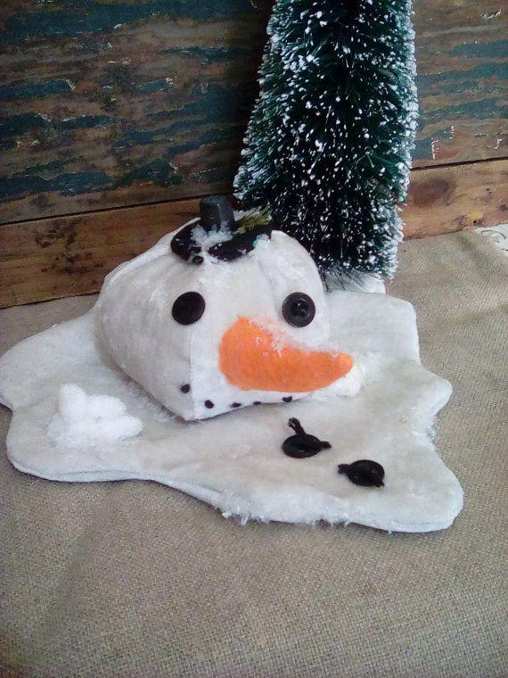 Muñeco de nieve derretido primitiva decoración