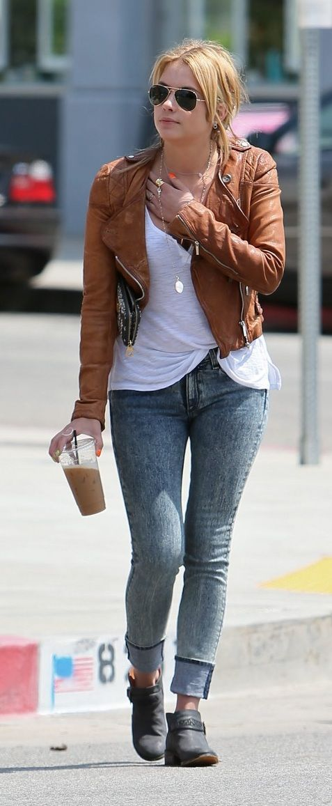 http://3-week-diet.digimkts.com/ Time to get in shape Cute jacket boots and skinny jeans on Ashley Benson