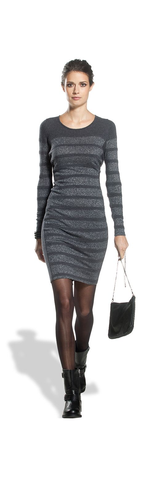 Claudia strater grey elegant dress