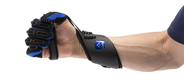 Not all stroke recovery devices need electrical stimulation to aid in task-oriented training. Neurorehabilitation researchers have also incorporated mechanical features into lightweight gloves that simply ease the burden on the hands and fingers. For example, the SaeboGlove includes an innovative tension system that connects and controls the fingers, thumb, wrist, and forearm.