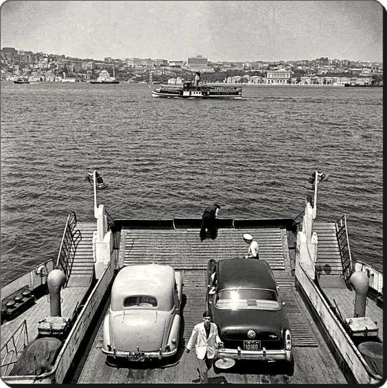 ✿ ❤ Bir Zamanlar İSTANBUL, Araba vapurundan Boğaziçi - 1964 Fotoğraf : Ara Güler: