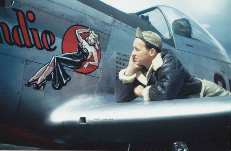 Artist Don Allen with 'Blondie' - one of his most iconic aircraft pieces #noseart