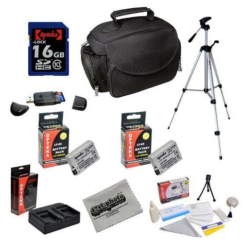 Opteka Professional Shooters Kit with Opteka 16GB SDHC Memory Card, Microfiber Deluxe Bag, Full Size Tripod, Extended...