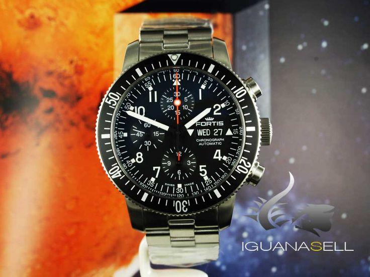 Fortis Official Cosmonauts Chronograph Automatic Watch, ETA Valjoux 77   Iguana Sell