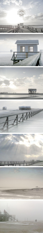 Bleached Days haben wir diese Zusammenstellung von Fotos genannt. Wie ausgewaschen wirkten an diesem Tag die Farben der Nordsee, des Strandes und des Himmels. Fotos halten die Erinnerung fest und schützen vor verbleichenden Erinnerungen.