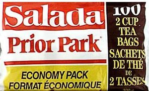 Salada Prior Park blend teabags ... discontinued Salada Tea blend popular with Quebec Innu who are searching for a source of the tea, September 2015, Canada