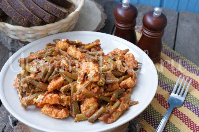 Курица с фетой и стручковой фасолью в мультиварке - пошаговый рецепт с фото