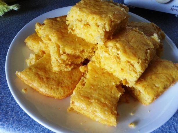 Cheesy Jiffy Cornbread - Use whatever shredded cheese you have on hand. I used shredded Parm & it was delicious!