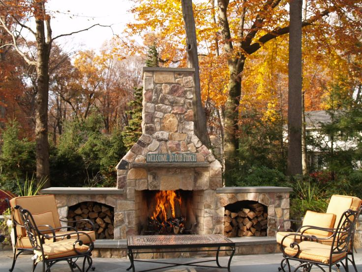 Nothing like an outdoor stone fireplace!  Someday!