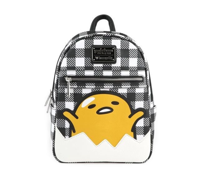C Mon And Get Plaid And Happy With This Fun Gudetama Backpack