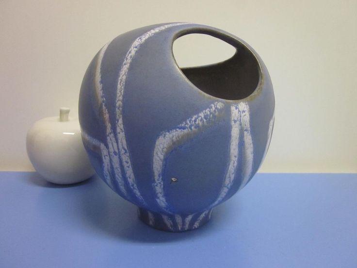 Schlossberg Azur Vase organische Form 50s 50er WGP beautiful glazemid-century
