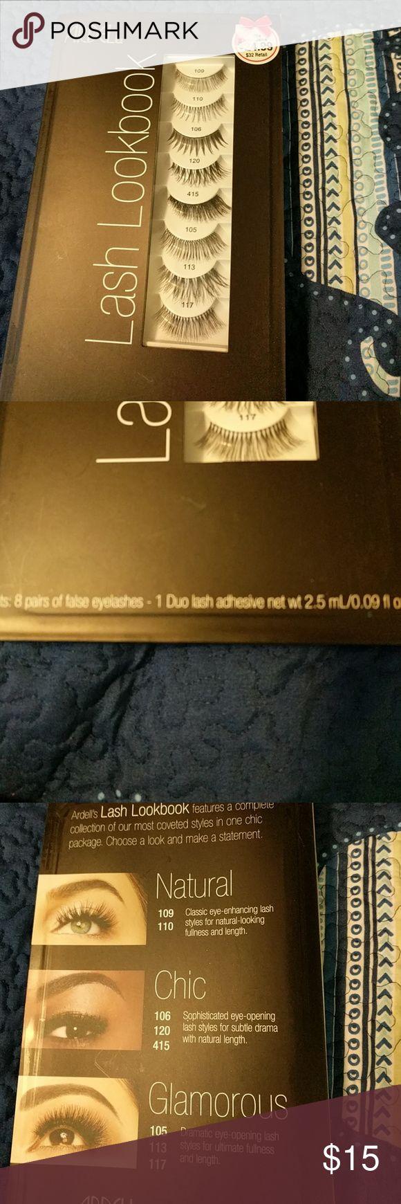 Ardell Lash Look book 8 pairs of lashes and adhesive. Nwt Ardell Makeup False Eyelashes
