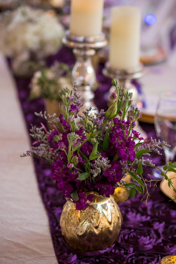 Purple And Gold Centerpieces : Best wedding color schemes images on pinterest