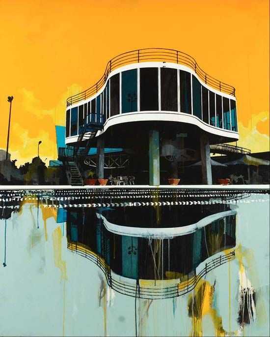 Paul Davies Architectural paintings