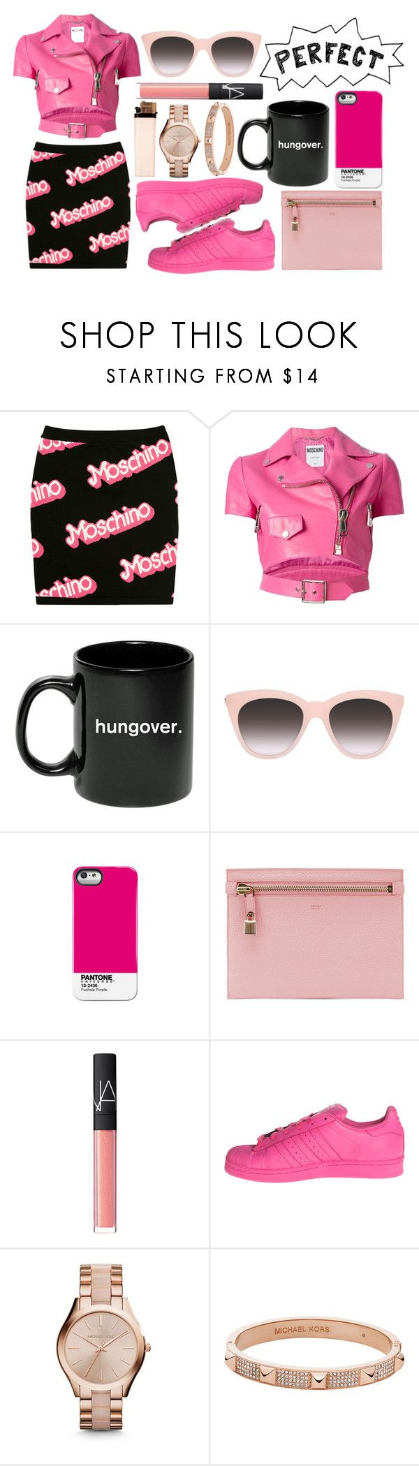 """What Are you Made Of?"" by aida-indeguy ❤ liked on Polyvore featuring Moschino, Pantone Universe, Tom Ford, NARS Cosmetics, adidas and Michael Kors"