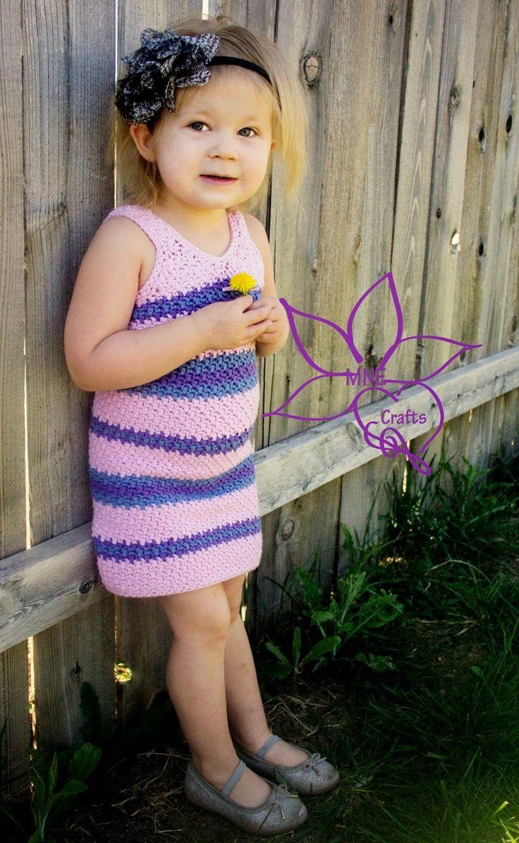 Crochet Little girls summer dress