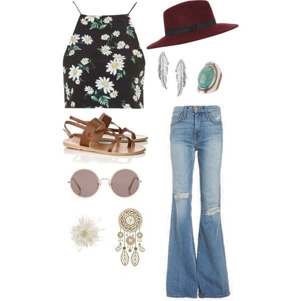 Peace✌️ by ariannavillegas on Polyvore featuring polyvore, fashion, style, Topshop, Current/Elliott, Ancient Greek Sandals, maurices, LeiVanKash, Miss Selfridge, Eye Candy, Sunday Somewhere and Tasha